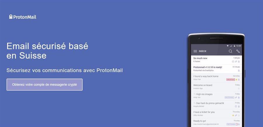 ProtonMail, protégez votre boite email