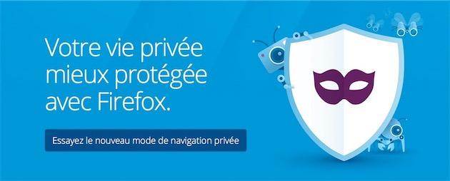 Naviguez en mode « privé » sur Mozilla Firefox